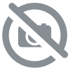 Coeur courbe tagua ivoire vegetal rouge